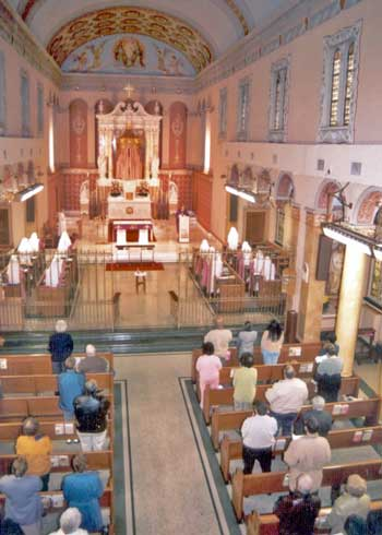 People and Sisters Participating at Mass