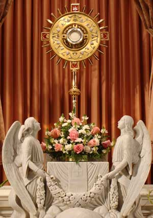 Jesus is present in the Blessed Sacrament